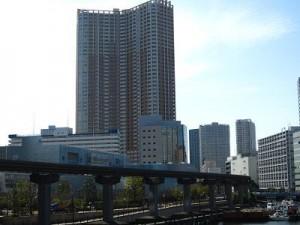 芝浦アイランドケープタワー なぎさ橋から撮影2