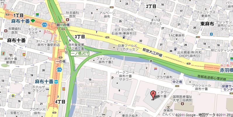 シティタワー麻布十番 map
